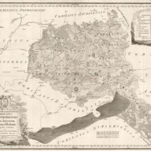 Veszprem Varmegye Terkepe 1799 Szechenyi Terkepek